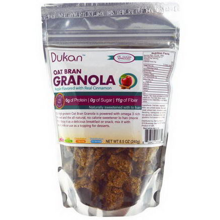 Dukan Diet, Oat Bran Granola, Apple Flavored with Real Cinnamon, 8.5oz (240g)