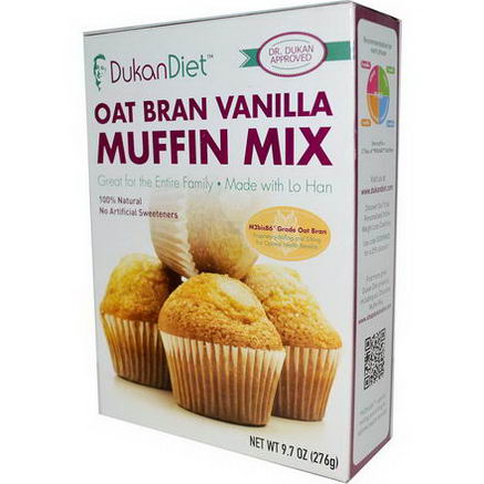 Dukan Diet, Oat Bran Vanilla Muffin Mix, 9.7oz (276g)