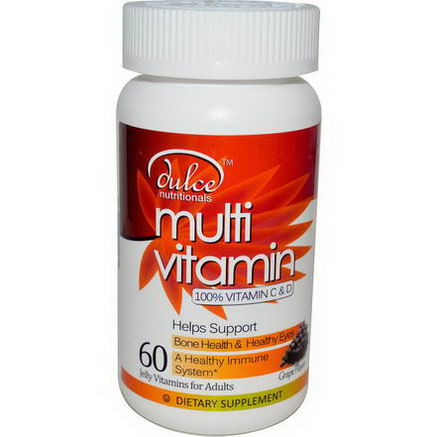 Dulce Nutritionals, Multivitamin, Grape Flavor, 60 Jelly Vitamins