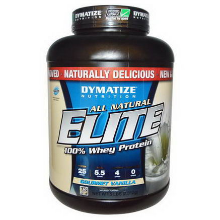Dymatize Nutrition, All Natural, Elite Whey Protein, Gourmet Vanilla, 5 lbs (2, 312g)