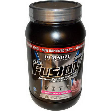 Dymatize Nutrition, Elite Fusion 7, Strawberry Shake, 2 lbs (908g)