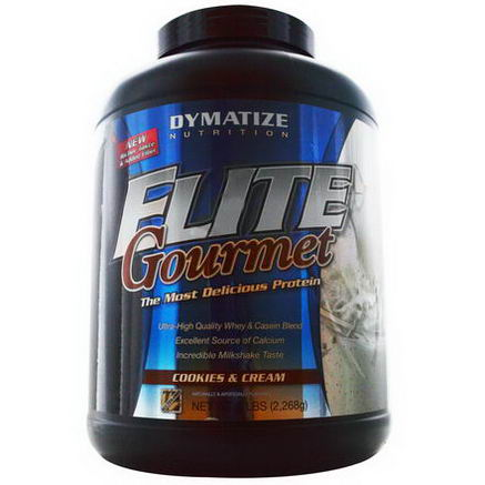 Dymatize Nutrition, Elite Gourmet Protein, Powder, Cookies and Cream, 5 lbs (2, 268g)