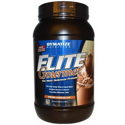 Dymatize Nutrition, Elite Gourmet Protein, Swiss Chocolate, 2 lbs (907g)