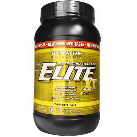 Dymatize Nutrition, Elite XT, Extended Release Multi-Protein Matrix, Banana Nut, 2 lbs (892g)