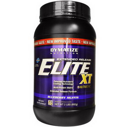 Dymatize Nutrition, Elite XT, Extended Release Multi-Protein Matrix, Blueberry Muffin, 2 lbs (892g)