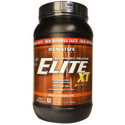 Dymatize Nutrition, Elite XT, Extended Release Muti-Protein Matrix, Rich Chocolate, 2 lbs (892g)