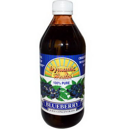 Dynamic Health Laboratories, 100% Pure Blueberry Juice Concentrate, 16 fl oz (473 ml)