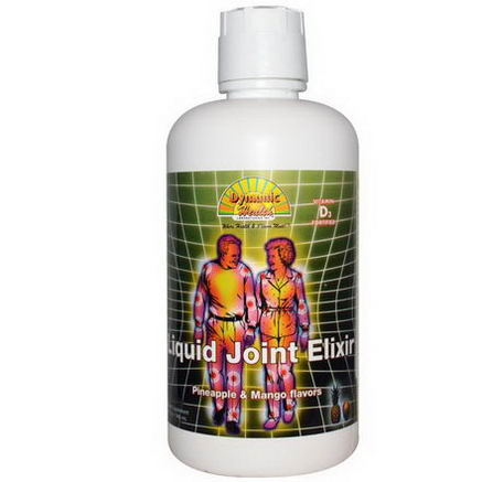 Dynamic Health Laboratories, Liquid Joint Elixir, Pineapple & Mango Flavors, 32 fl oz (946 ml)