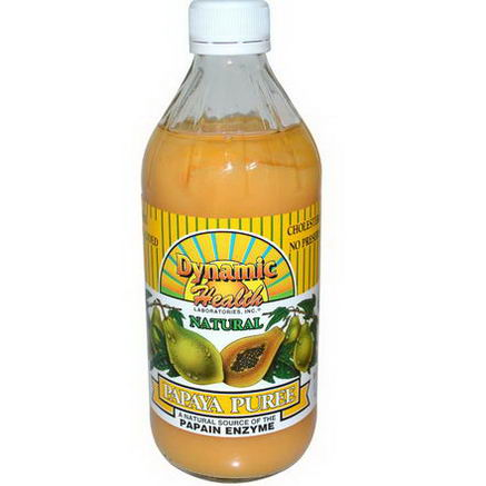 Dynamic Health Laboratories, Natural Papaya Puree, 16 fl oz (473 ml)