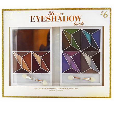 E.L.F. Cosmetics, 36 Piece Eyeshadow Book, Glam, 0.73oz (20.7g)