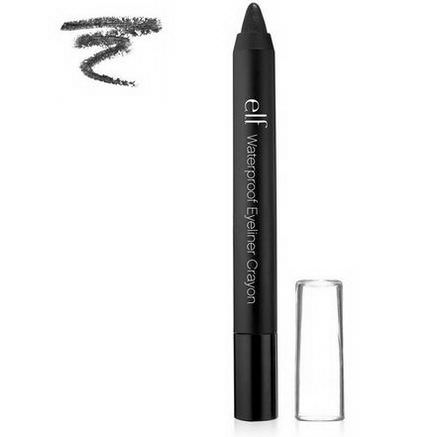 E.L.F. Cosmetics, Waterproof Eyeliner Crayon, Pitch Black, 0.07oz (2g)