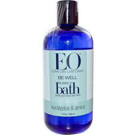 EO Products, Be Well, Bubble Bath, Eucalyptus & Arnica, 12 fl oz (360 ml)