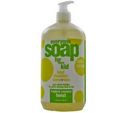 EO Products, Everyone Soap for Every Kid, Tropical Coconut Twist, 32 fl oz (960 ml)