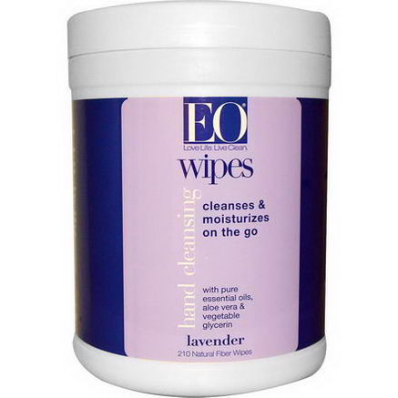 EO Products, Hand Cleansing Wipes, Lavender, 210 Wipes