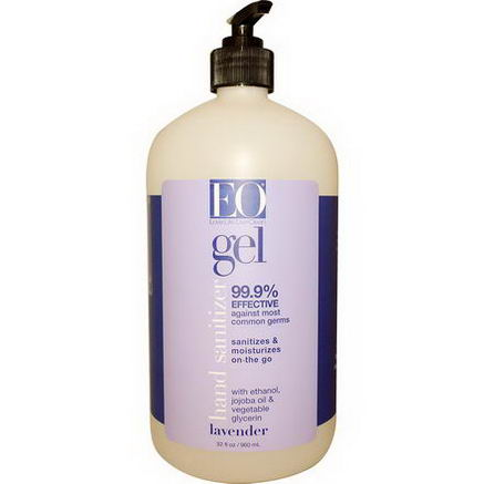 EO Products, Hand Sanitizer Gel, Lavender, 32 fl oz (960 ml)