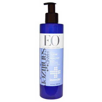 EO Products, Hand Sanitizer Gel, Lavender, 8 fl oz (240 ml)