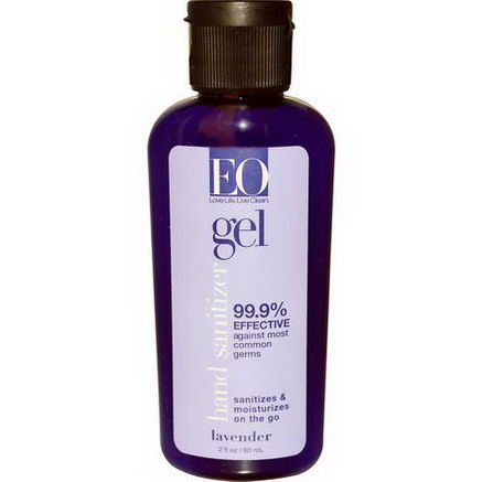 EO Products, Hand Sanitizer, Lavender, 2 fl oz (60 ml)