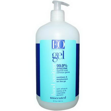 EO Products, Hand Sanitizing Gel, Unscented, 32 fl oz (960 ml)