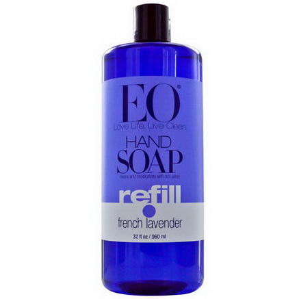 EO Products, Hand Soap, Refill, French Lavender, 32 fl oz (960 ml)