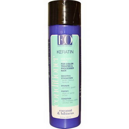 EO Products, Keratin Conditioner, Sulfate Free, Coconut & Hibiscus, 8.4 fl oz (250 ml)