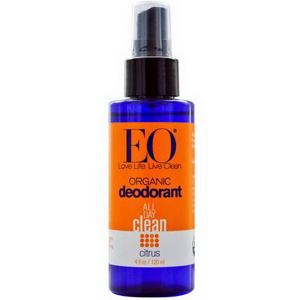 EO Products, Organic Deodorant Spray, Citrus, 4 fl oz (120 ml)