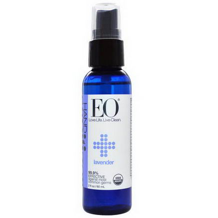 EO Products, Organic Hand Sanitizer Spray, Lavender, 2 fl oz (60 ml)