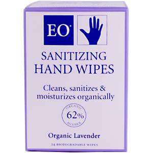 EO Products, Sanitizing Hand Wipes, Organic Lavender, 24 Wipes
