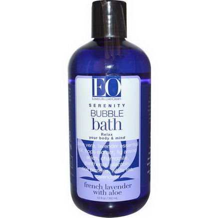 EO Products, Serenity, Bubble Bath, French Lavender with Aloe, 12 fl oz (360 ml)