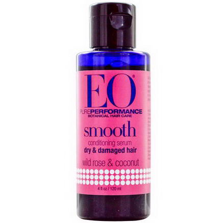 EO Products, Smooth Conditioning Serum, Wild Rose & Coconut, 4 fl oz (120 ml)