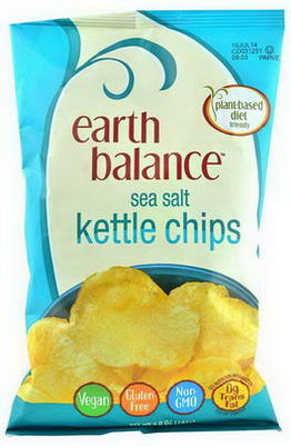 Earth Balance, Kettle Chips, Sea Salt, 5.0oz (141g)