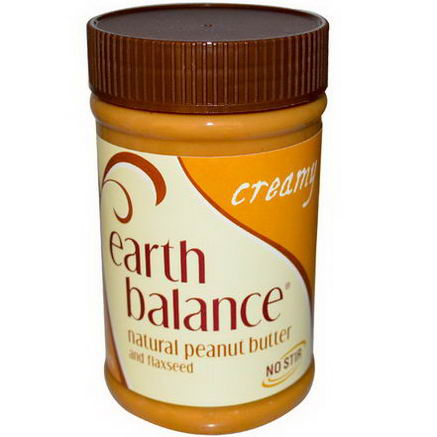 Earth Balance, Natural Peanut Butter and Flaxseed, Creamy, 16oz (453g)
