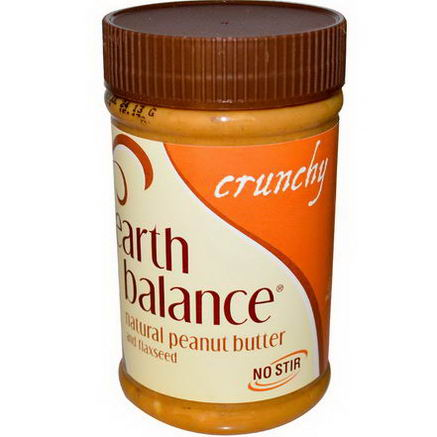 Earth Balance, Natural Peanut Butter and Flaxseed, Crunchy, 16oz (453g)