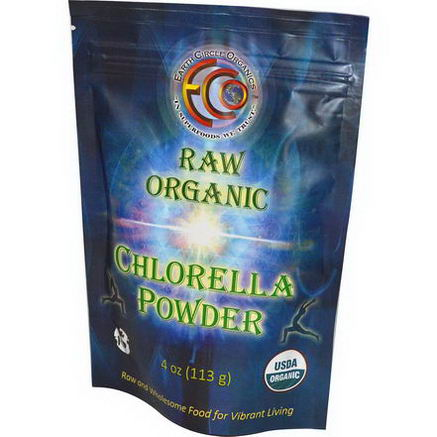 Earth Circle Organics, Chlorella Powder, Raw Organic, 4oz (113g)
