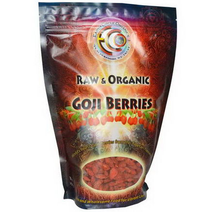 Earth Circle Organics, Goji Berries, Raw & Organic, 16oz (454g)