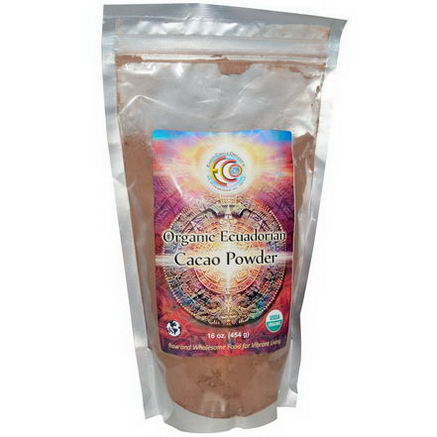 Earth Circle Organics, Organic Ecuadorian Cacao Powder, 16oz (454g)
