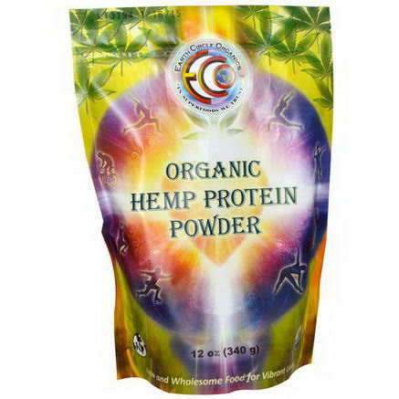 Earth Circle Organics, Organic Hemp Protein Powder, 12oz (340g)