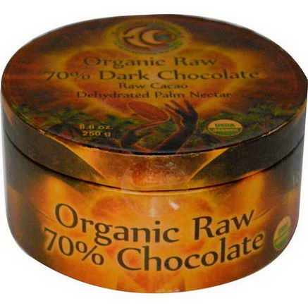 Earth Circle Organics, Organic Raw 70% Dark Chocolate, 8.8oz (250g)