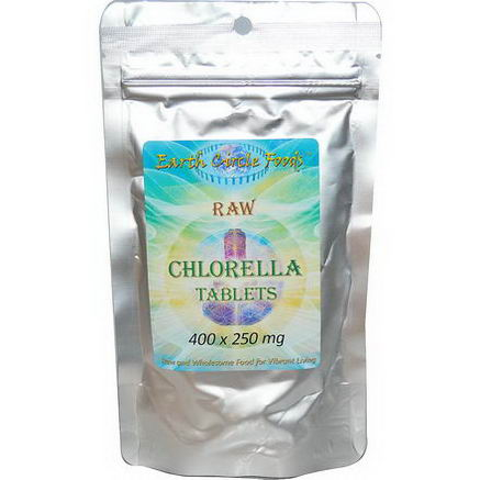 Earth Circle Organics, Raw Chlorella Tablets, 250mg, 400 Tablets