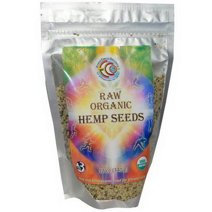 Earth Circle Organics, Raw Organic Hemp Seeds, 12oz (340g)