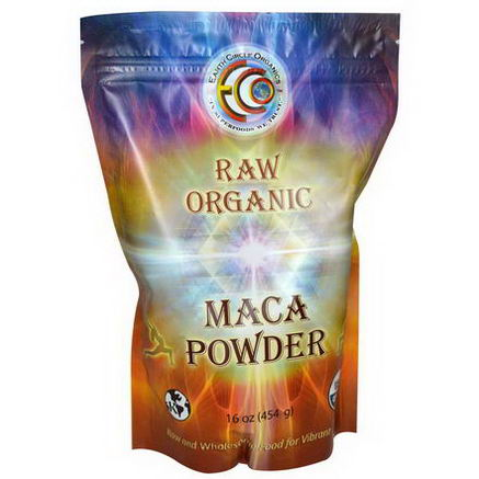 Earth Circle Organics, Raw Organic Maca Powder, 16oz (454g)