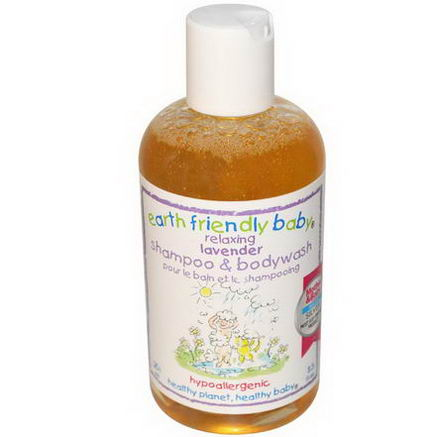 Earth Friendly Baby, Shampoo & Body Wash, Lavender, 8.5 fl oz (251 ml)