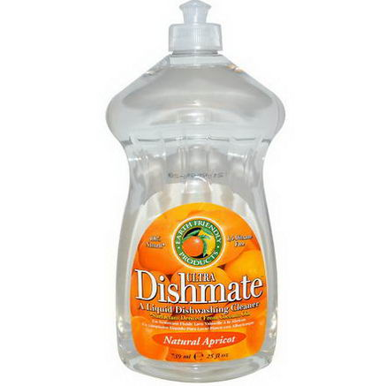 Earth Friendly Products, Ultra Dishmate, Liquid Dishwashing Cleaner, Natural Apricot, 25 fl oz (739 ml)