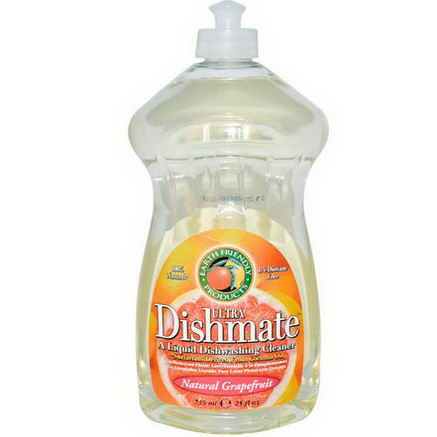Earth Friendly Products, Ultra Dishmate, Liquid Dishwashing Cleaner, Natural Grapefruit, 25 fl oz (739 ml)