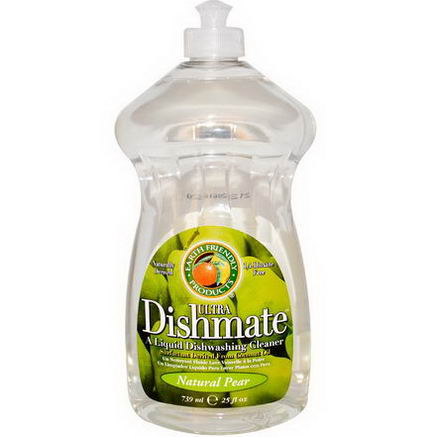 Earth Friendly Products, Ultra Dishmate, Natural Pear, 25 fl oz (739 ml)