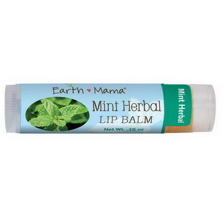Earth Mama Angel Baby, Mint Herbal Lip Balm, 15oz (4 ml)
