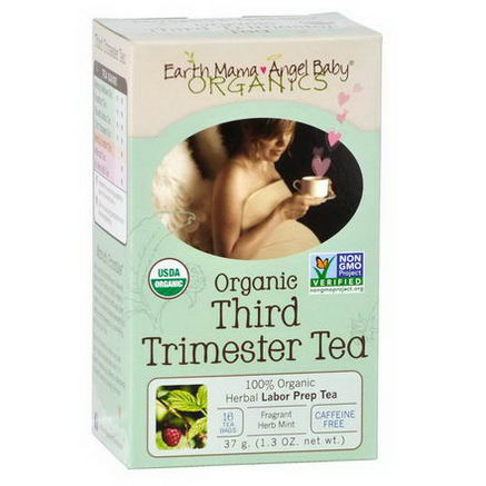Earth Mama Angel Baby, Organic Third Trimester Tea, Caffeine Free, 16 Tea Bags, 1.3oz (37g)