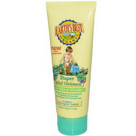 Earth's Best, Organic, Diaper Relief Ointment, 4oz (113g)