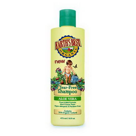 Earth's Best, Tear-Free Shampoo, Aloe Vera, 16 fl oz (473 ml)