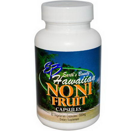 Earth's Bounty, Noni Fruit, Hawaiian, 500mg, 60 Veggie Caps