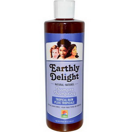 Earthly Delight Hair Care, Shampoo, Tropical Rain, 16 fl oz (454 ml)